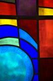 Abstraktes Buntglas Stockfotos