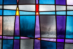 Abstraktes Buntglasdetail Stockfotos