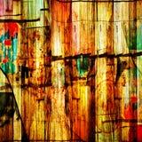 Abstraktes chaotisches Muster mit bunten gekrümmten Linien Lizenzfreie Stockfotos