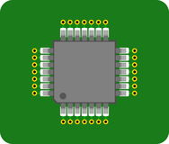 Abstraktes Chip auf PWB Lizenzfreies Stockbild