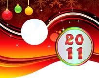 Abstraktes christmas& neues Jahr backgorund Lizenzfreies Stockbild