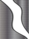 Abstraktes Chrom und schwarzer Hintergrund Lizenzfreie Stockbilder