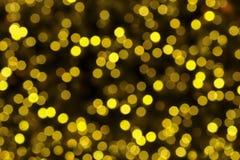 Abstraktes circularyellow Licht bokeh des Weihnachtsbaums Lizenzfreies Stockfoto