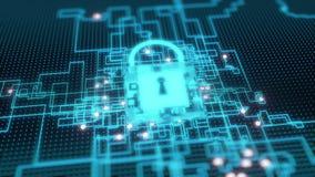 abstraktes cybersecurity 4K Konzept stock abbildung