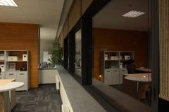 Abstraktes 3d übertrug Innenraum Lizenzfreies Stockfoto