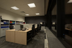 Abstraktes 3d übertrug Innenraum Lizenzfreie Stockfotos