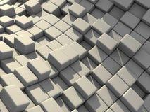 Abstraktes 3d berechnet Block-Hintergrundes Lizenzfreie Stockfotos