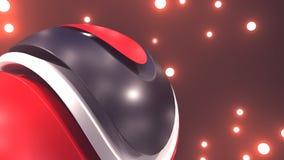 Abstraktes 3d, das Rot geschnittenen Ball überträgt Stockbild