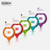Abstraktes 3D digitales Geschäft Infographic Stockbild