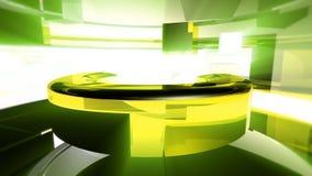 Abstraktes 3D kurvt lebhaften Hintergrund stock footage