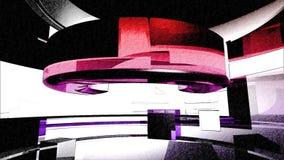 Abstraktes 3D kurvt lebhaften Hintergrund lizenzfreie abbildung