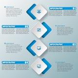 Abstraktes 3D Papier Infographics Lizenzfreie Stockbilder