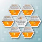 Abstraktes 3D Papier Infographics Lizenzfreies Stockfoto