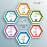 Abstraktes 3D Papier Infographics Stockfotos