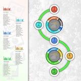 Abstraktes 3D Papier Infographics Lizenzfreies Stockbild