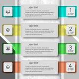 Abstraktes 3D Papier Infographics Stockbilder