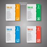 Abstraktes 3D Papier Infographics Lizenzfreie Stockfotos