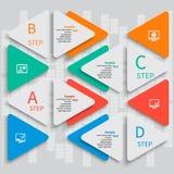 Abstraktes 3D Papier Infographics Lizenzfreie Stockfotografie