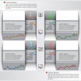 Abstraktes 3D Papier Infographics Stockbild