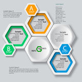Abstraktes 3D Papier Infographics Stockfoto