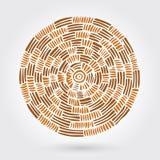 Abstraktes dekoratives hölzernes gestreiftes strukturiertes Spinnen Vektorgekritzel Stockfoto