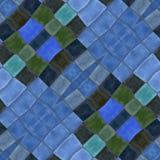 Abstraktes dekoratives kaleidoskopisches Mosaikmuster des blauen Grüns Stockfotos