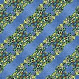 Abstraktes dekoratives kaleidoskopisches Mosaikmuster des blauen Grüns Stockbilder