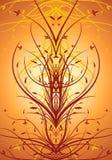 Abstraktes dekoratives vertikales Hintergrundvektormit blumenillustrati stock de ilustración