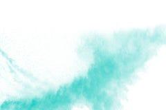 Abstraktes Design der grünen Pulverwolke gegen weißen Hintergrund Lizenzfreie Stockfotografie