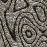 Abstraktes Design im Metall Stockfotos