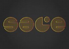 Abstraktes Design mit bokeh Stilvolle Werbung Auch im corel abgehobenen Betrag Stockbild