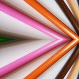 abstraktes Design mit farbigen Bleistiften, Hintergrund und Beschaffenheit Lizenzfreies Stockbild