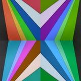 abstraktes Design mit Schnitten des Papiers in den Farben Stockbilder