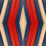 abstraktes Design mit Stücken Plasticinestangen in den Farben weiß, blau und rot, im Hintergrund und in der Beschaffenheit Stockfotos