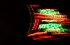 Abstraktes Design mit unscharfem Neonlicht-Zeichen Lizenzfreies Stockbild