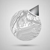 Abstraktes Design von Erde, Kugel für Probe, templa Lizenzfreie Abbildung