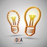 Abstraktes Design von zwei Glühlampen für Beschaffenheit und Lizenzfreie Abbildung