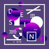 Abstraktes Designplakat Memphis-Designschablone Abstraktes geometrisches Moderner Hintergrund für Fahne, Karte, Plakat, Netz, c vektor abbildung