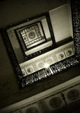 Abstraktes Detail der rustikalen Treppen Lizenzfreie Stockfotografie