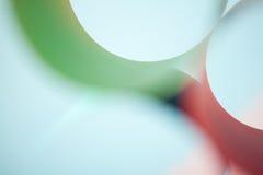 Abstraktes Detail der wellenartig bewogenen Struktur des farbigen Papiers Stockfotos