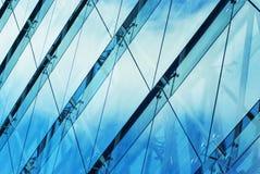 Abstraktes Detail des Bürogebäudes Stockfotografie