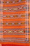 Abstraktes Detail des marokkanischen Teppichs Stockfoto