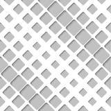 Abstraktes diagonales Papiergitter, Vector nahtloses Muster Stockfoto