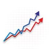 Abstraktes Diagramm mit Kurven Lizenzfreie Stockfotos