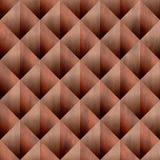 Abstraktes Diamantmuster - nahtloser Hintergrund - Dekorationsmaterial - Farbton des roten Backsteins vektor abbildung