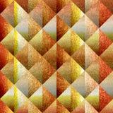Abstraktes Diamantmuster - nahtloser Hintergrund - Dekorationsmaterial - Oberfläche des orange Gelbs stock abbildung