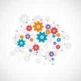 Abstraktes digitales Gehirn, Technologiekonzept Lizenzfreie Stockfotos
