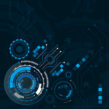 Abstraktes digitales technologisches Konzept der Gangräder, Illustration Lizenzfreie Stockfotos