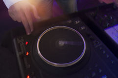 Abstrakte lange Belichtungsbewegung DJ Stockfotos