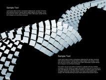 Abstraktes dreidimensionales dynamisches Stockfotos
